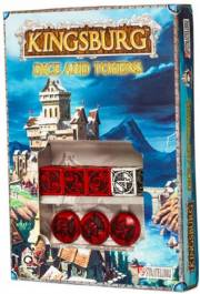 acceder a la fiche du jeu Red & Black Kingsburg Dice and Tokens Set (4+3)